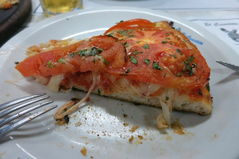Pizza slice Argentina style by Authentic Food Quest