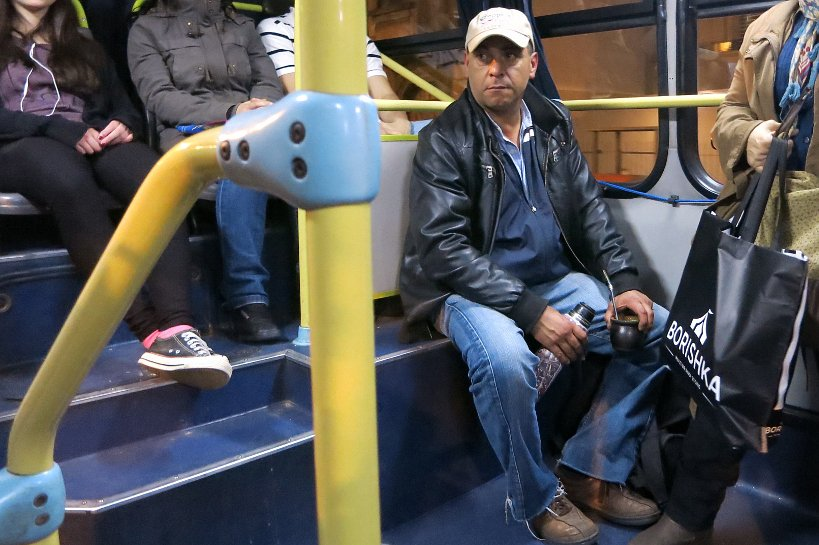 Man in bus with mate by Authentic Food Quest