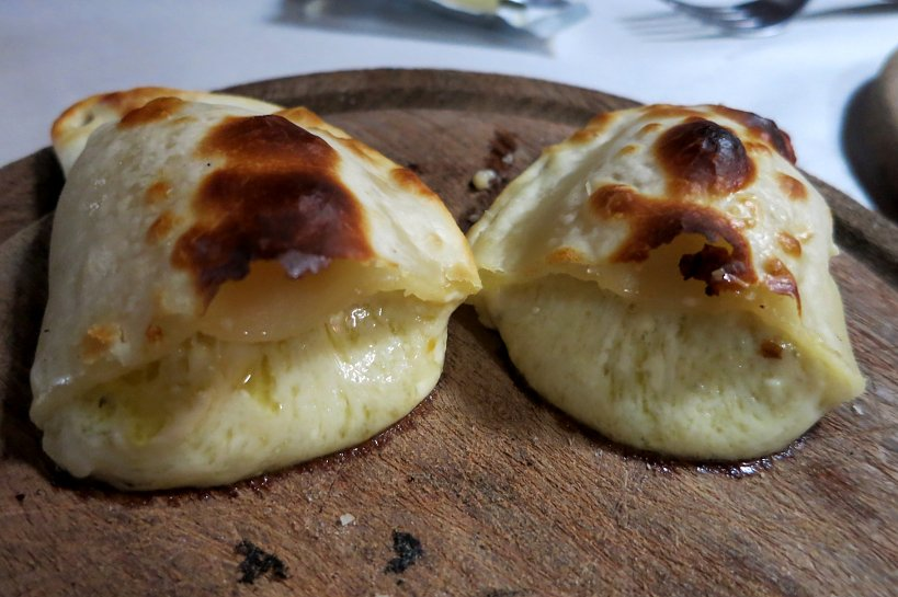 Authentic foodie empanada de roquefort