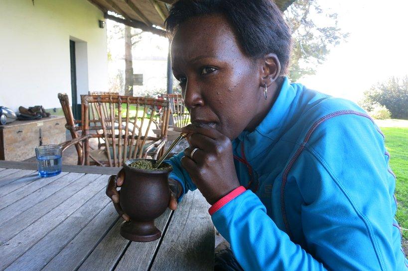 Rosemary Mate Drinking Mate_Uruguay