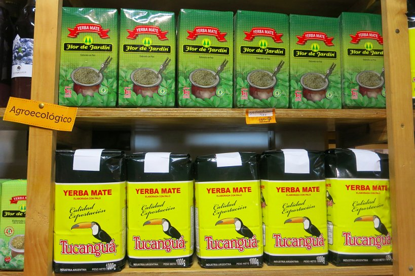 Yerba Mate at grocery store in Uruguay by Authentic Food Quest