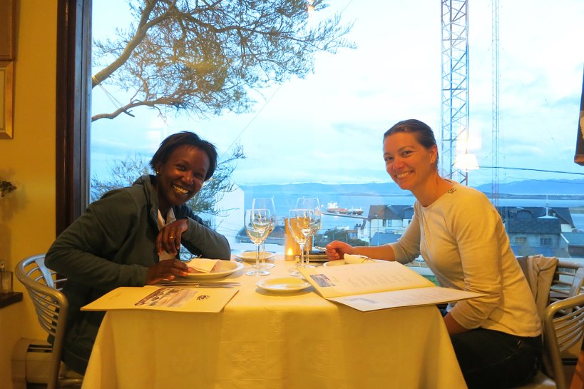 Rosemary and Claire at Kaupe restaurant in Ushuaia by Authentic Food Quest