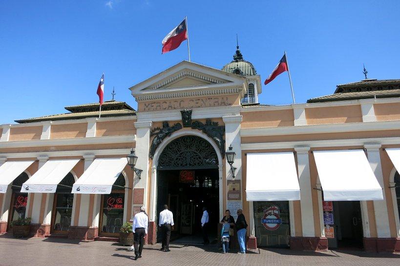 Entrance Mercado Central Santiago by Authentic Food Quest