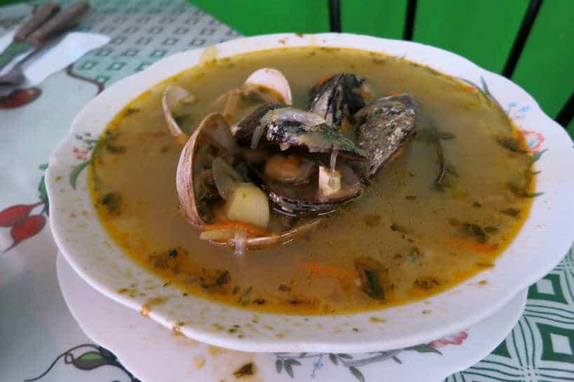 Chilean food Cazuela de Mariscos by Authentic Food Quest