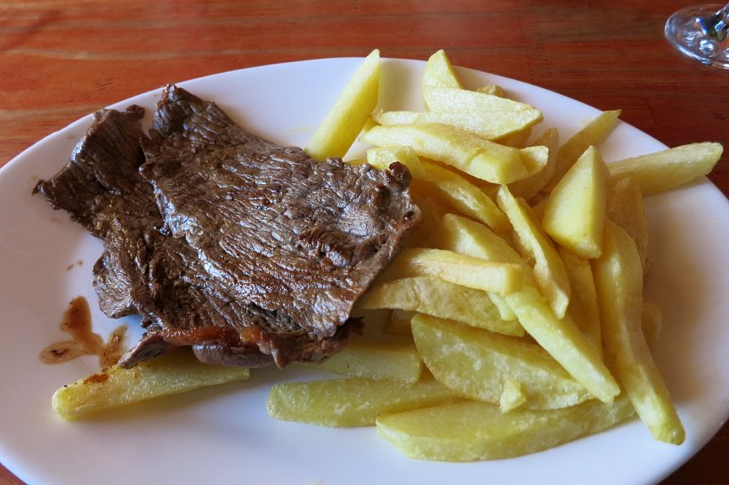 Popular chilean dishes churrasco meal