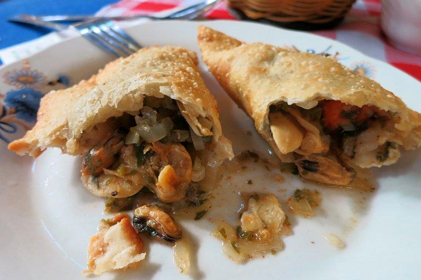 Valparaiso seafood empanada