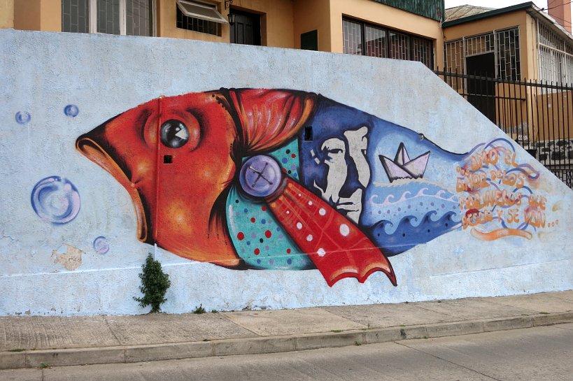 Valparaiso seafood fish art