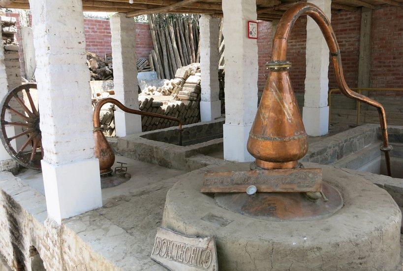 Peruvian Pisco alambics