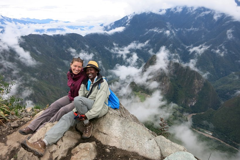 At Cerro Machu Picchu in the fulfillment of a dream