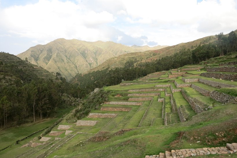 Cusco's market Chinchero Inca cultivation terraces
