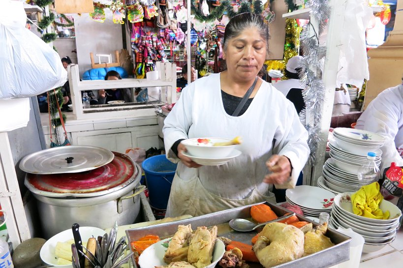 Cusco's market Sopa de Gallina
