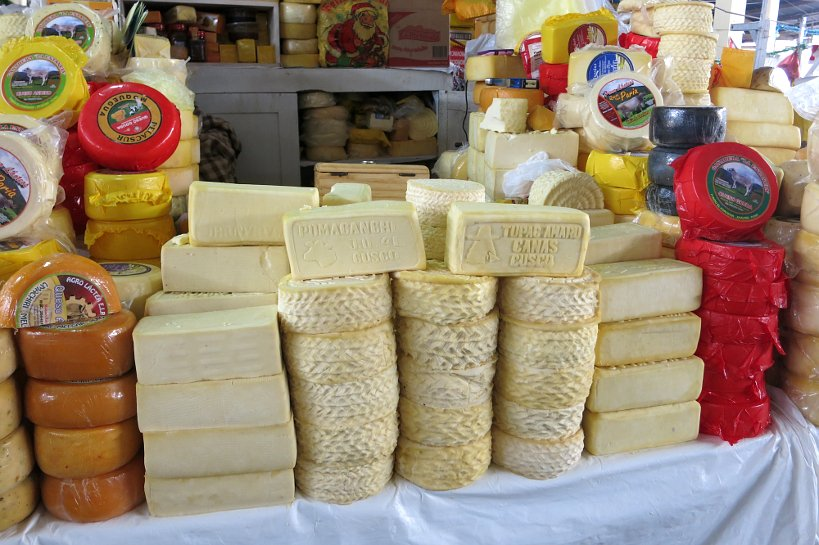 Cusco's market cheese stand