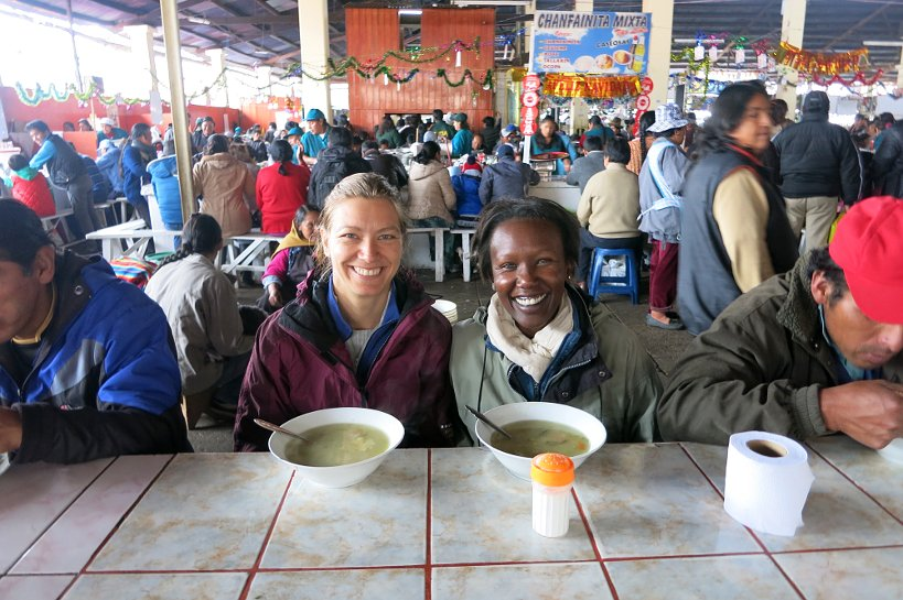 Authentic Food Cusco Market Claire & Rosemary Eating AFQ
