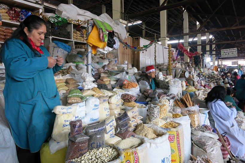 Cusco'market grain stand