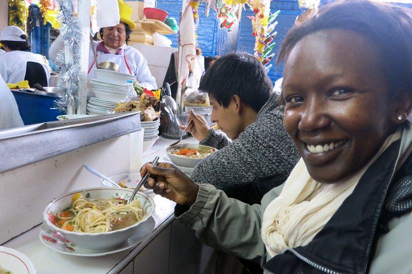 Cusco's market sopa de galina