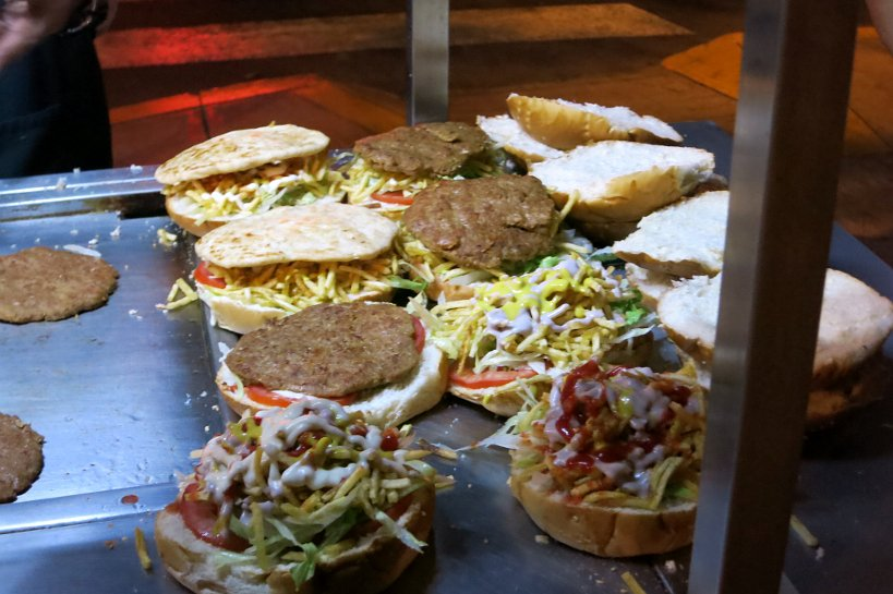 Peruvian street food sandwiches including hamburgers