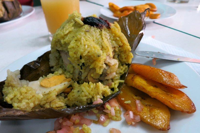 Amazonian food Juane de Pollo