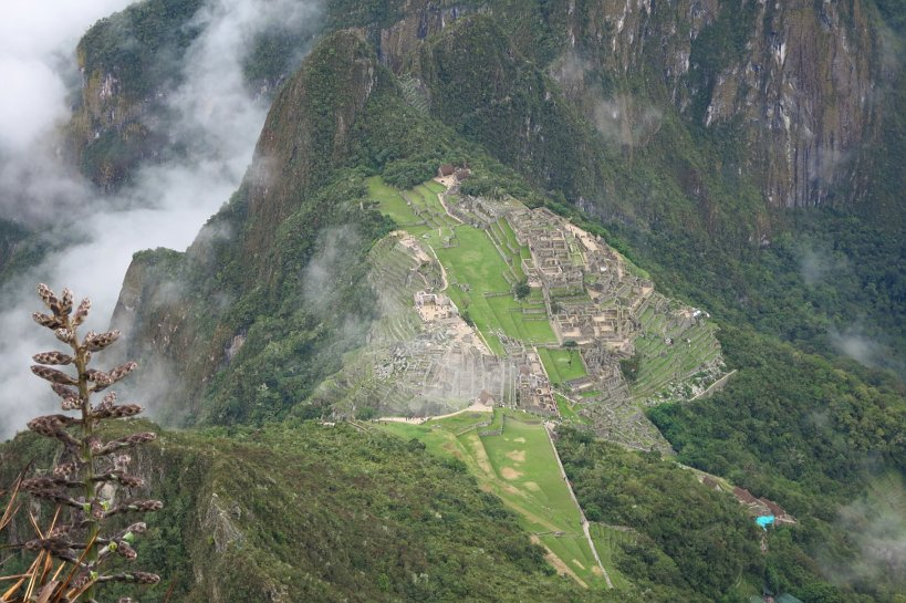View of Machu Picchu from the top of Cerro Machu Picchu in the fulfillment of a dream