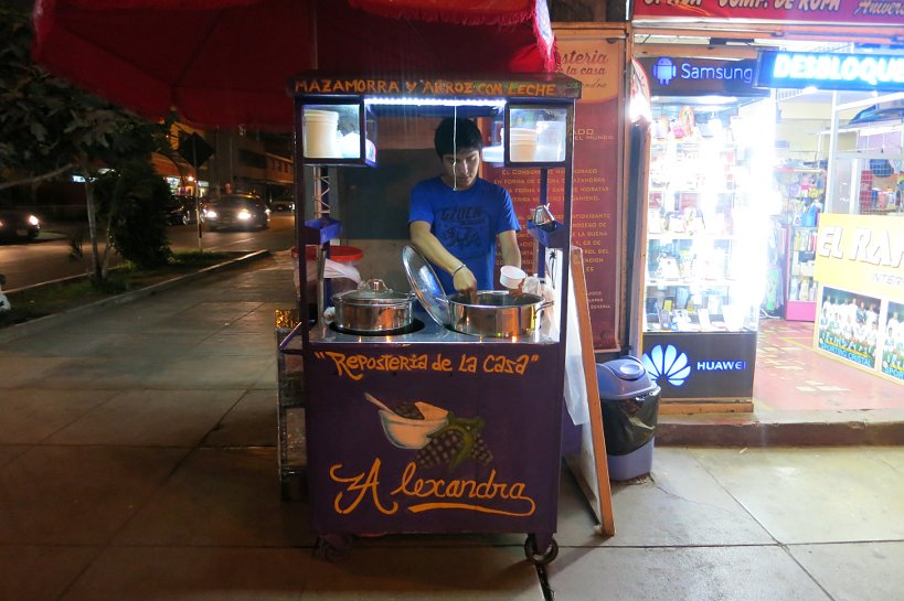 Peruvian street food Mazamorra by Authentic Food Quest