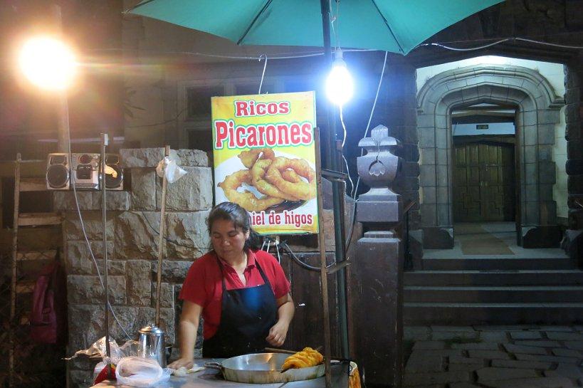 Peruvian street food Picarones