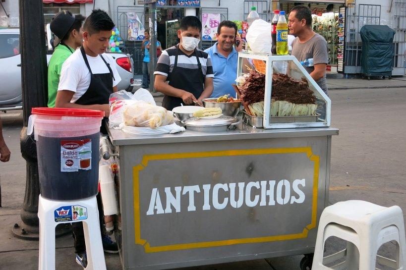 Criollo dishes anticuchos