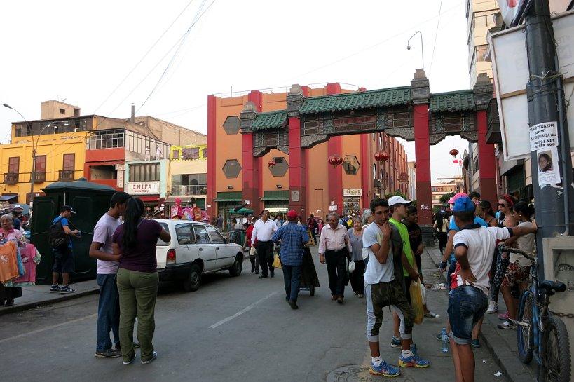 Chifa dishes in Barrio Chino Lima