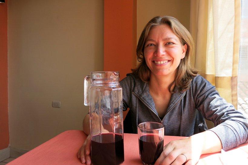 Peruvian drinks chica morad