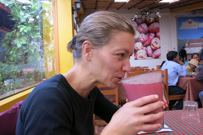 Peruvian drinks frutillada by Authentic Food Quest