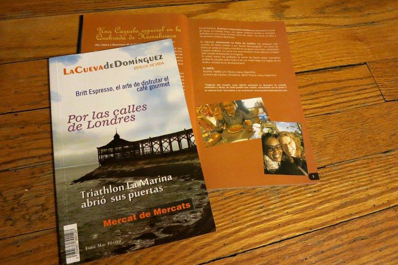 Peru Gastronomy magazine La Cueva de Dominguez