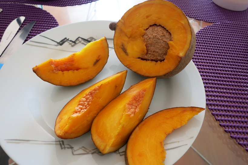 Strange fruits sapote