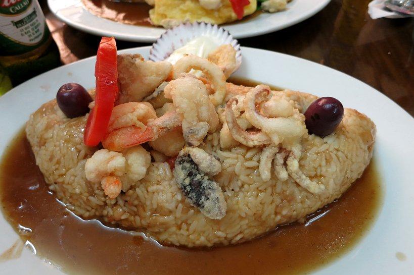 Criollo dishes tacu tacu