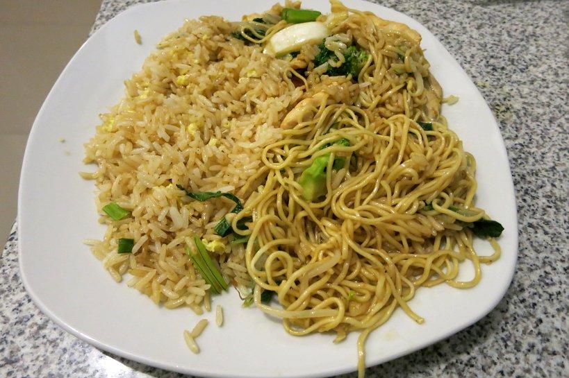 Chifa Dishes Tallarin and Chaufa mix