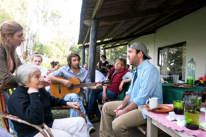 Traditional folklore music at asado in Tandil, Argentina