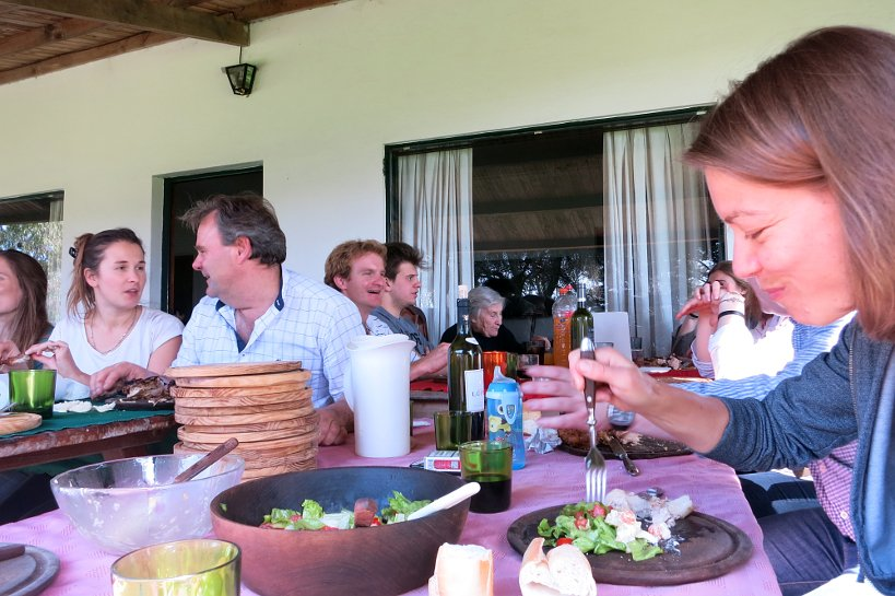 Argentinian grilling at an asado in Tandil, Argentina