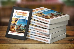 Paperback books and kindle version of Authentic Food Quest Argentina