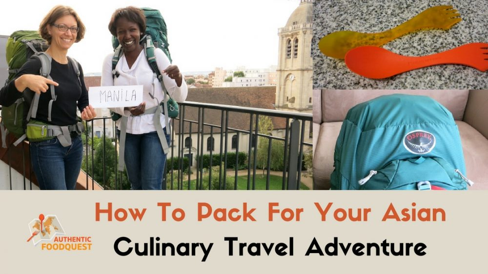 how to pack for your culinary travel and packing essentials