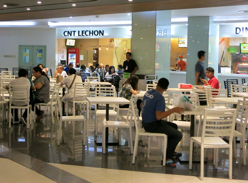 food court at Ayals center in Cebu city dining at the mall food in the philippines authentic food quest