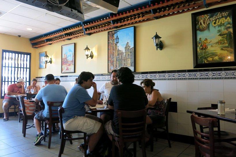 The inside of El Exquisito Restaurant in Little Havana, Miami FL and Cuban restaurant Miami