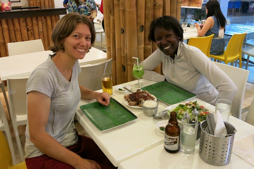 Claire and Rosemary at Rico's lechon cebu lechon authentic food quest
