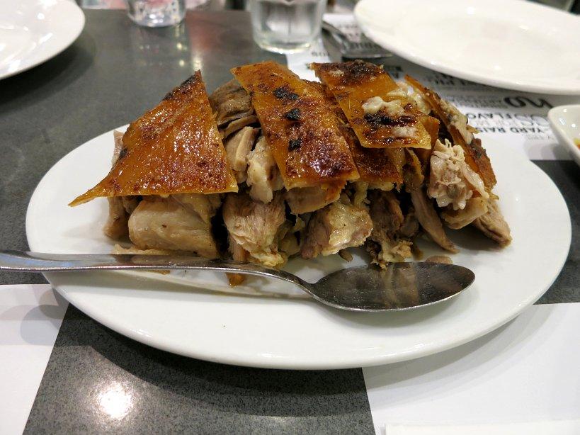 A plate of lechon at Zubuchon cebu lechon authentic food quest