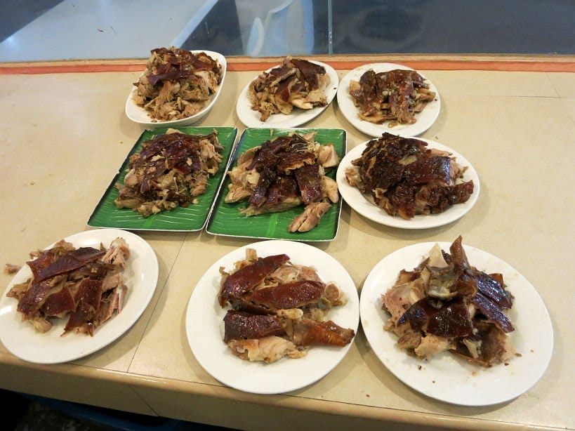 ricos lechon plates at ricos lechon authentic food quest