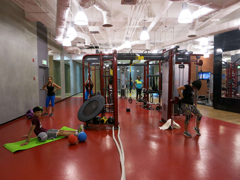 Kerry Sports Synrgy training at the fitness center in Manila, authentic food quest