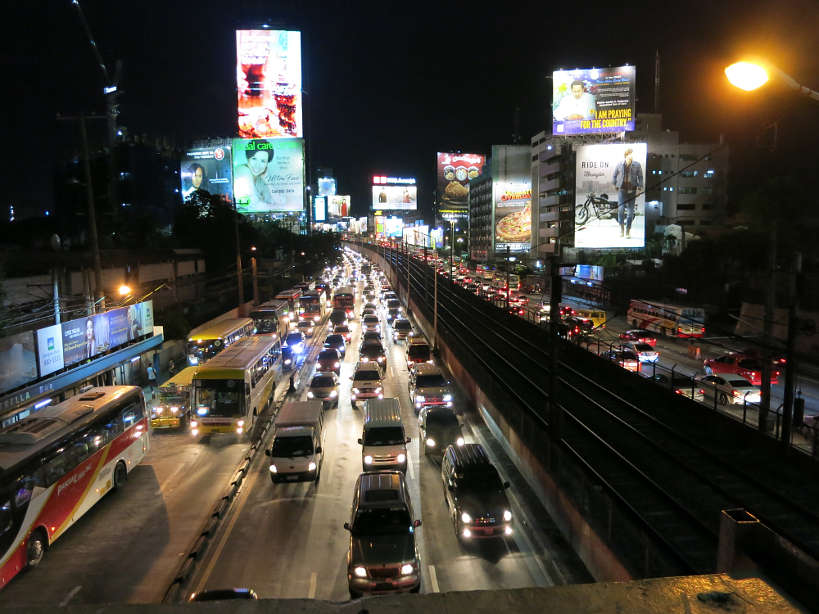How to stay fit on your travels, busy traffic in Manila