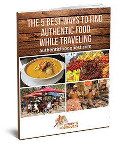 free e-book on finding authentic food while traveling