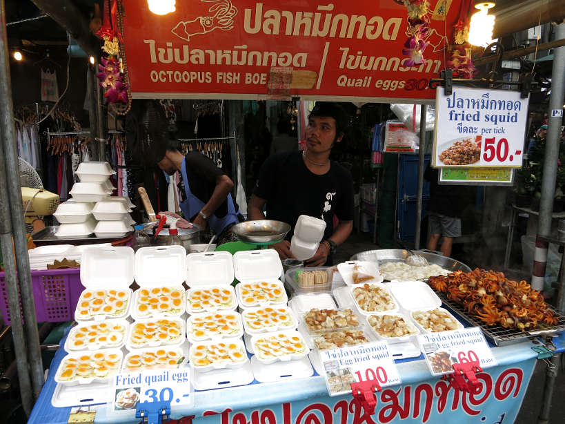 Chatuchak Food Vendor Bangkok Markets Authentic food quest