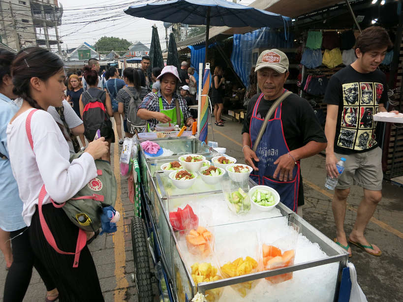 Chatuchak Fruit Vendor Bangkok Markets Authentic food quest