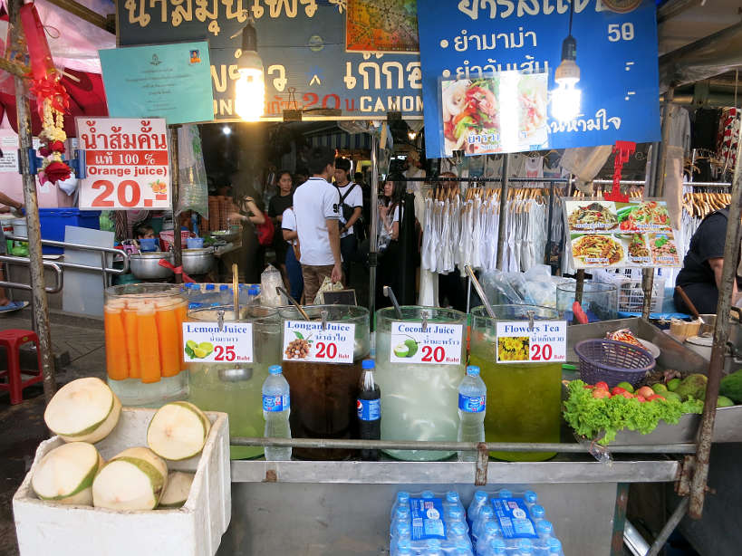 Chatuchak Fruit juices Bangkok Markets Authentic food quest