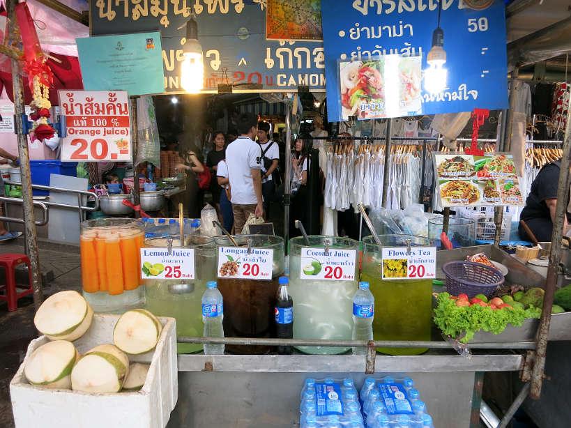 Chatuchak Fruit juices Bangkok Markets Authentic food quest