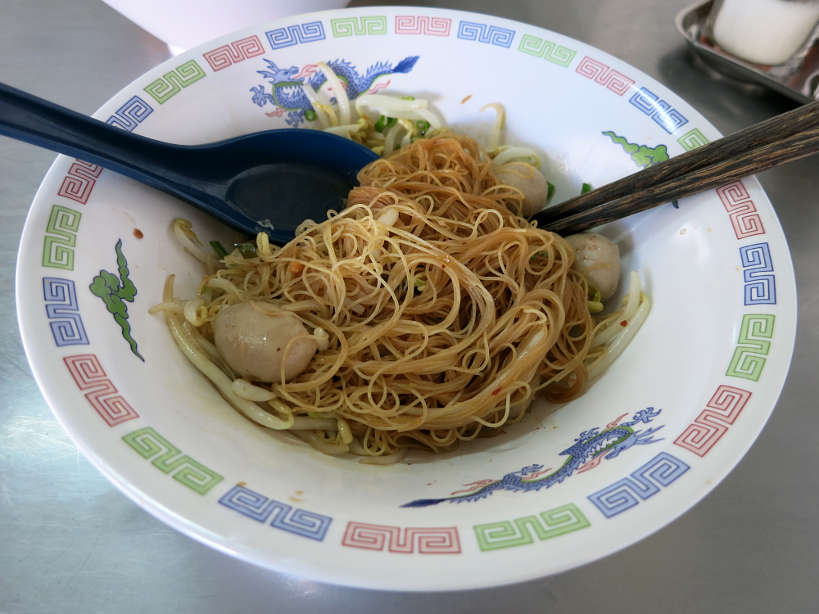 Dry Noodle Dish Bangkok Food Authentic Food Quest