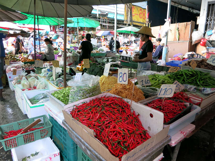 Khlong Toei market for Bangkok food by Authentic Food Quest